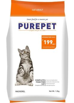 Purepet Adult Dry Cat Food, Mackerel the pet being
