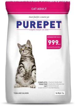 Purepet Tuna and Salmon 1.2 kg Dry Adult Cat Food